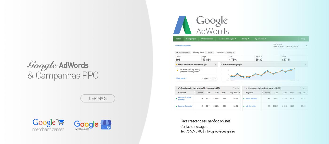 Google AdWords & Gestão de Campanhas PPC